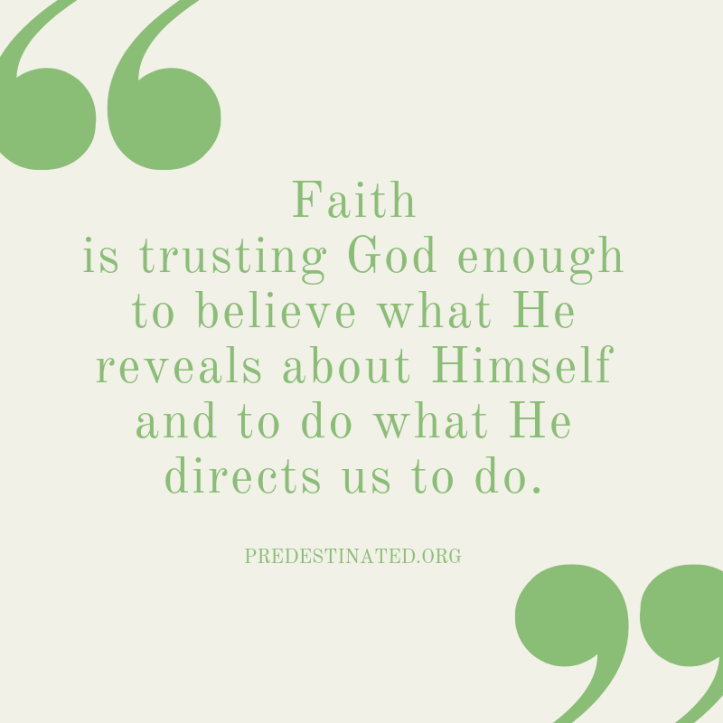 Faith is defined