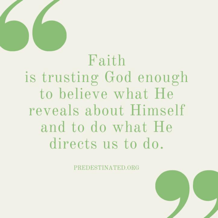 Faith is defined